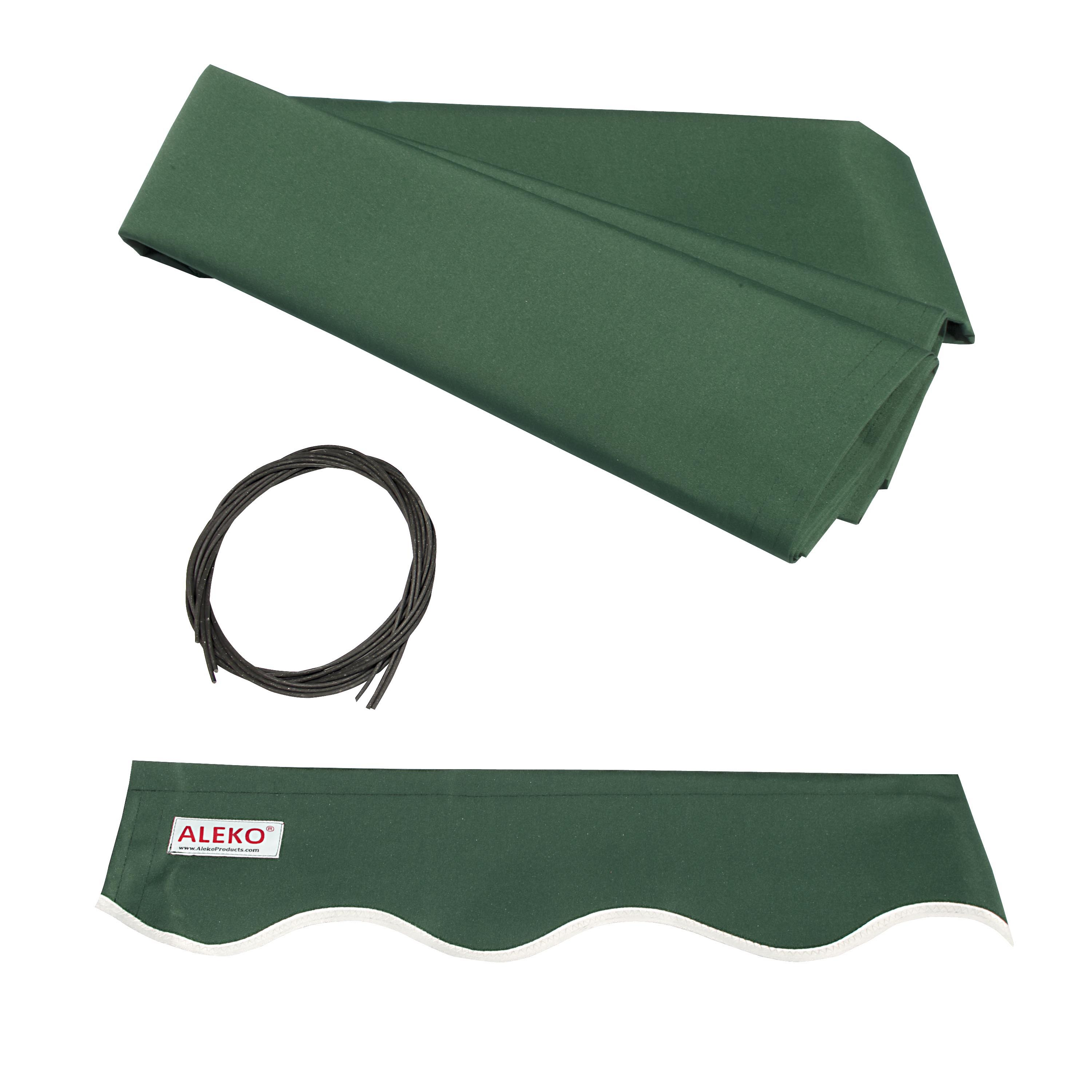 ALEKO Retractable Awning Fabric Replacement - 10x8 Feet - Green