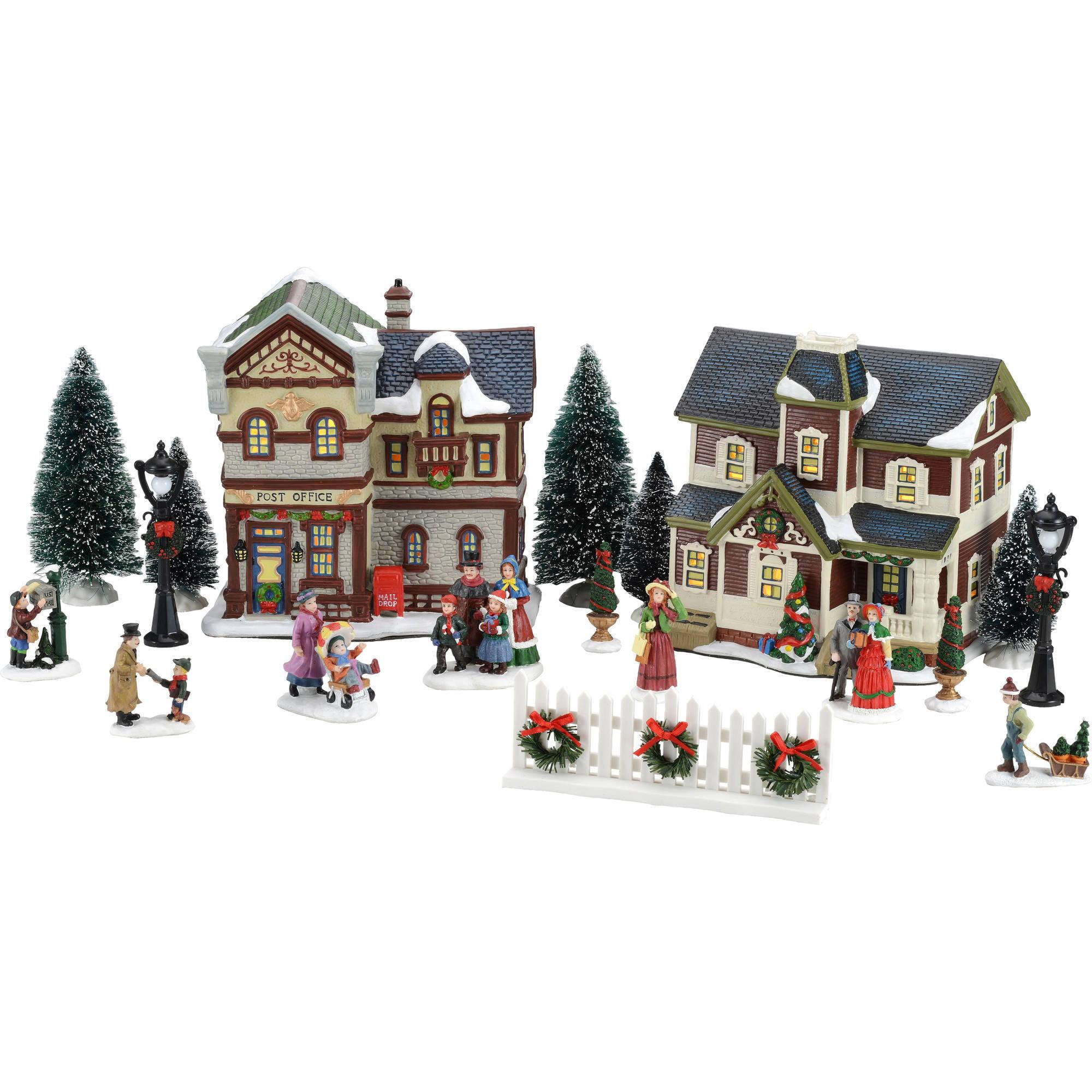 holiday time 21 piece christmas village set walmartcom