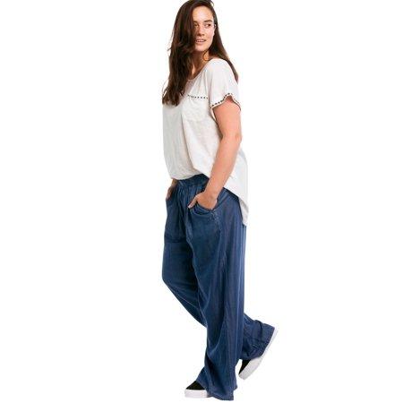0d7125c4dc8 Ellos - Ellos Plus Size Wide Leg Elastic Waist Denim Pants - Walmart.com