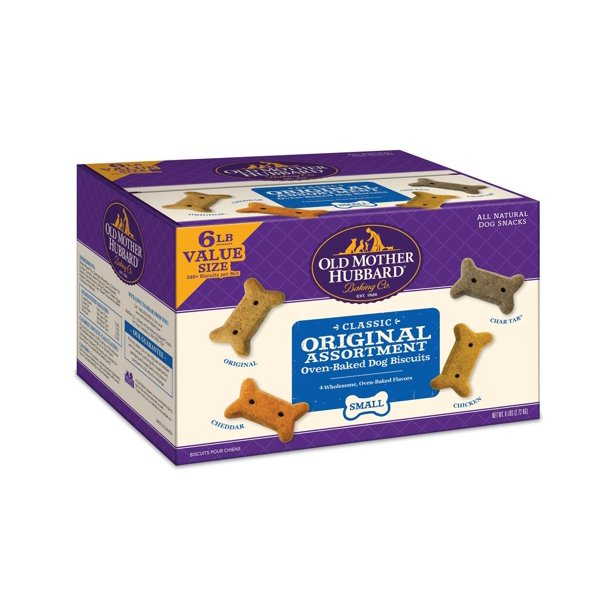 Old Mother Hubbard Classic Original Assortment Biscuits Baked Dog Treats, Small, 6 Pound Box