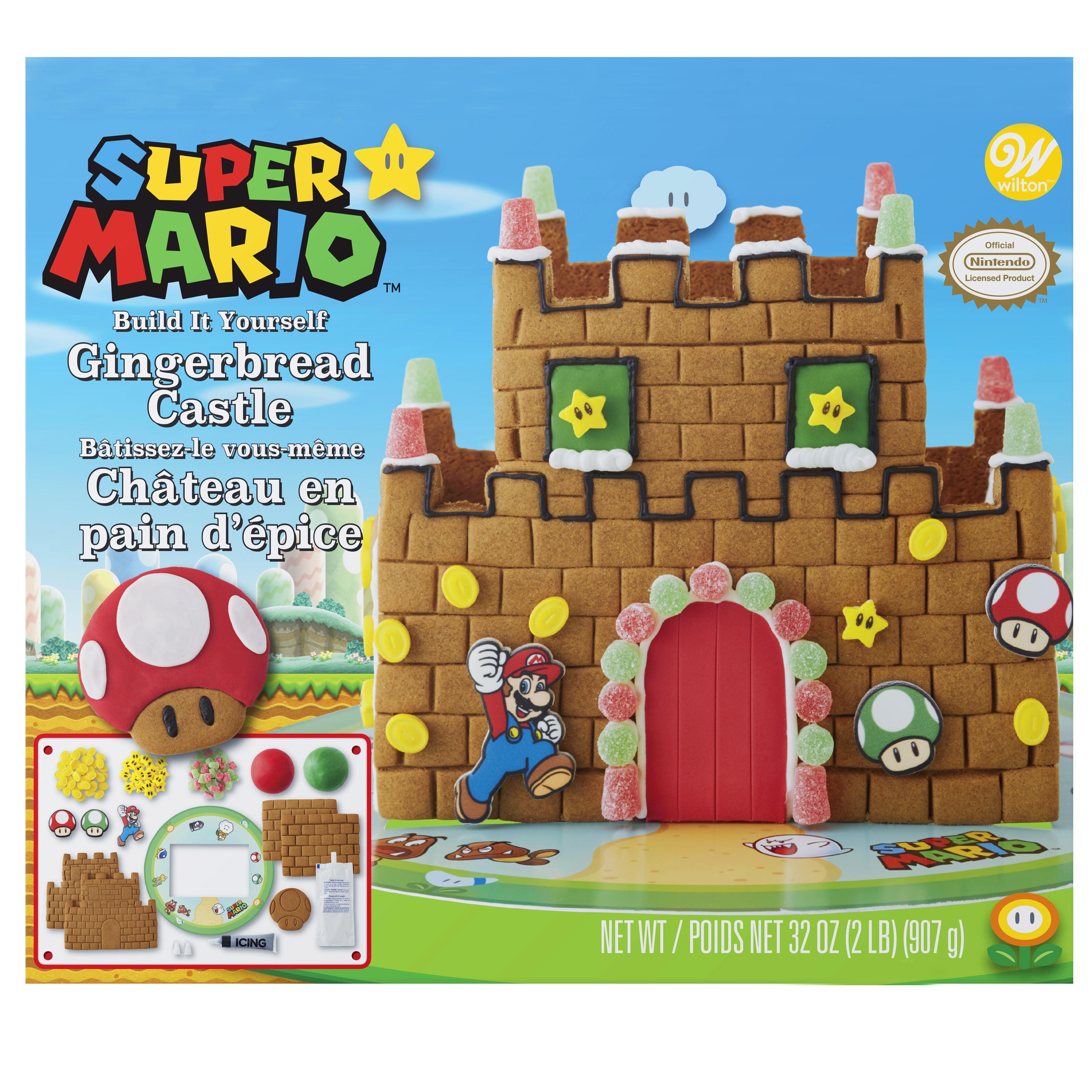 Wilton Build-it-Yourself Nintendo Mario Bros. Gingerbread Castle Decorating Kit