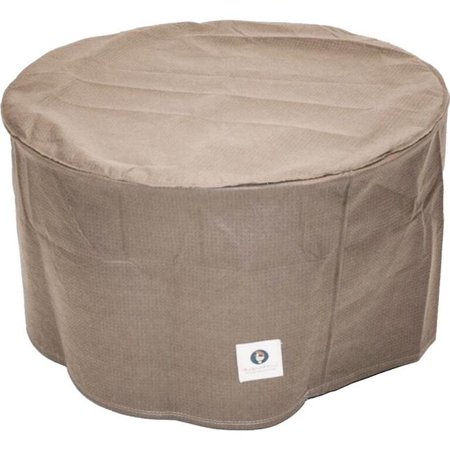 Duck Covers Elite 31 in. Round Patio Ottoman/Side Table Cover - Rubber Ducky Table Cover