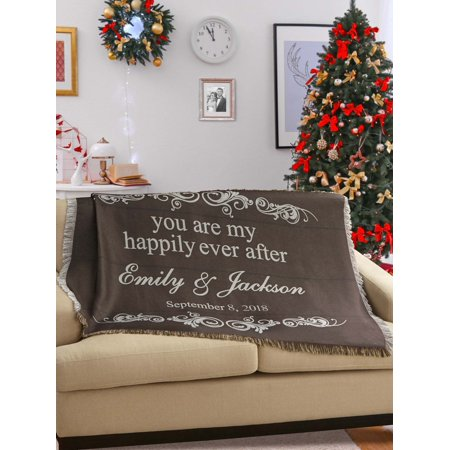 Personalized You Are My Happily Ever After (Personalized Daughter Throw)