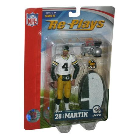NFL Football Brett Favre Gracelyn Packers Side Line Re-Plays Series III Figure Brett Favre Packers Figure