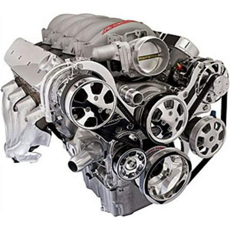 - Billet Specialties 13450PA Premium Tru Trac LS Engine Top Mount Pulley System