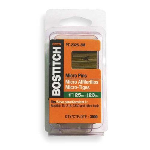 BOSTITCH PT-2312-3M Headless Pin, 23 ga, 1/2 In, PK 3000