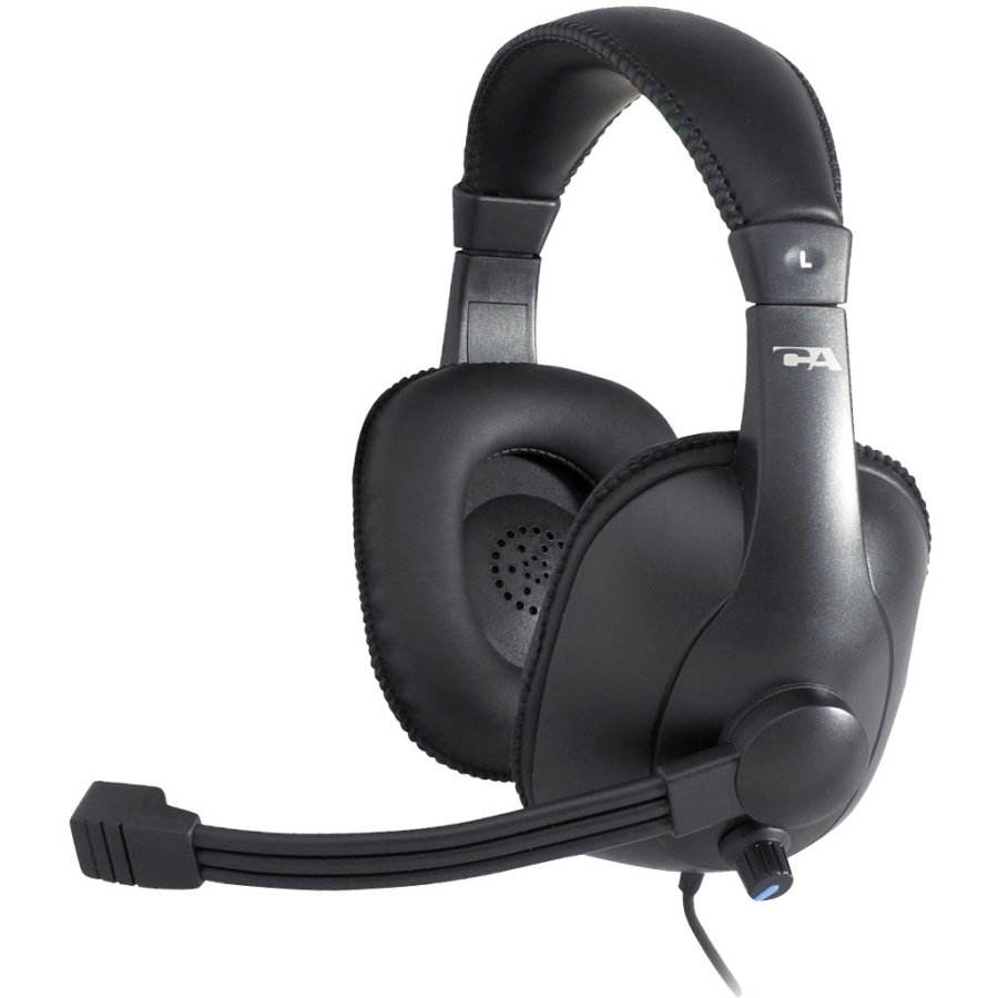 Cyber Acoustics AC-960 Pro Grade w/Mic Headset - Over-the-head - Black