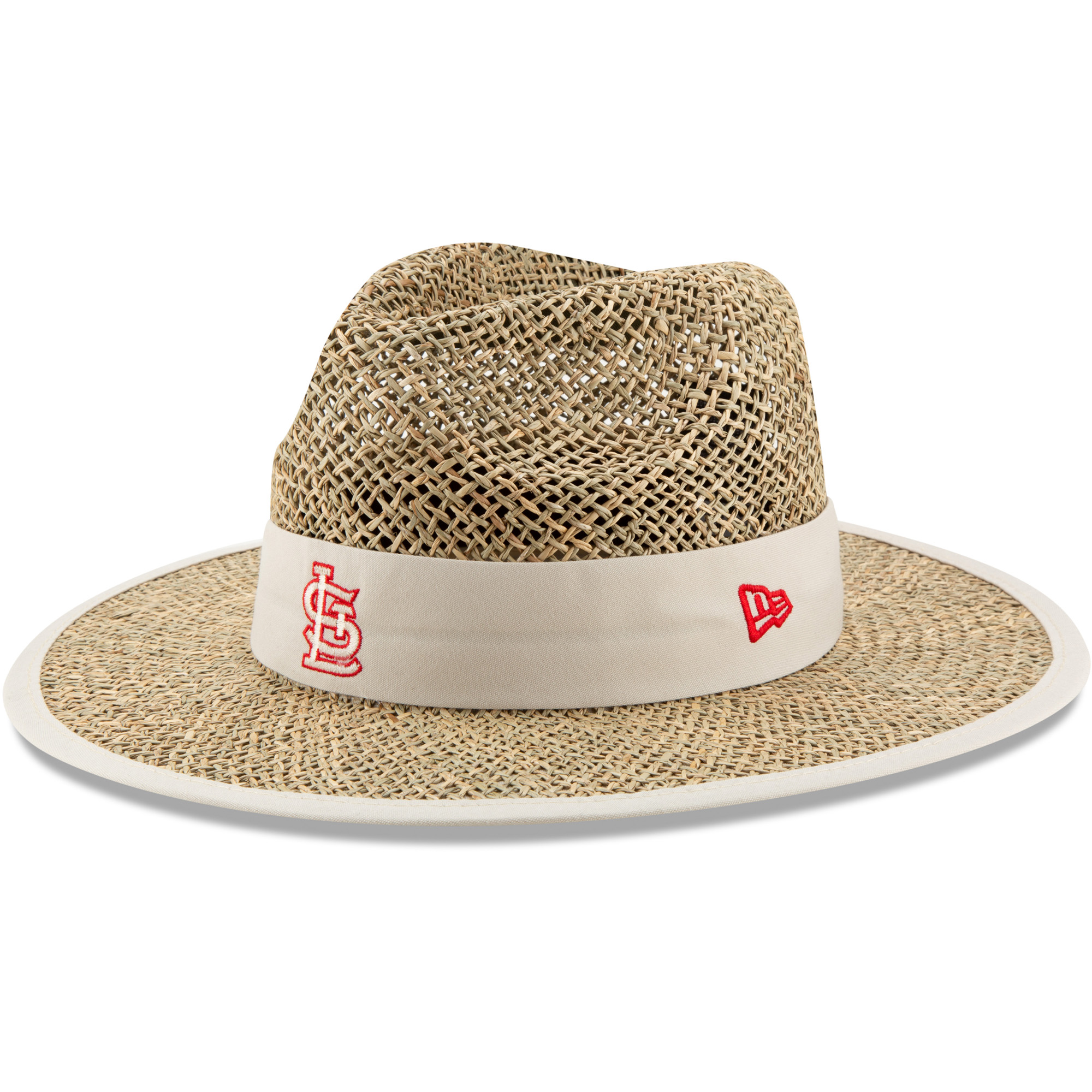 St. Louis Cardinals New Era Shaded Straw Hat - Tan - OSFA
