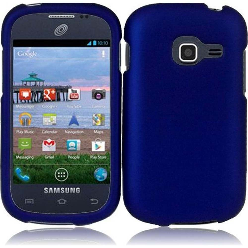 Hard Rubberized Case for Samsung Galaxy Centura S738C - Blue