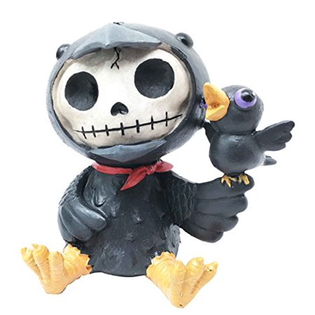 Large Furrybones Raven Suit Leopold Bird Cute Skeleton Monster Ornament Figurine - Skeleton Suits