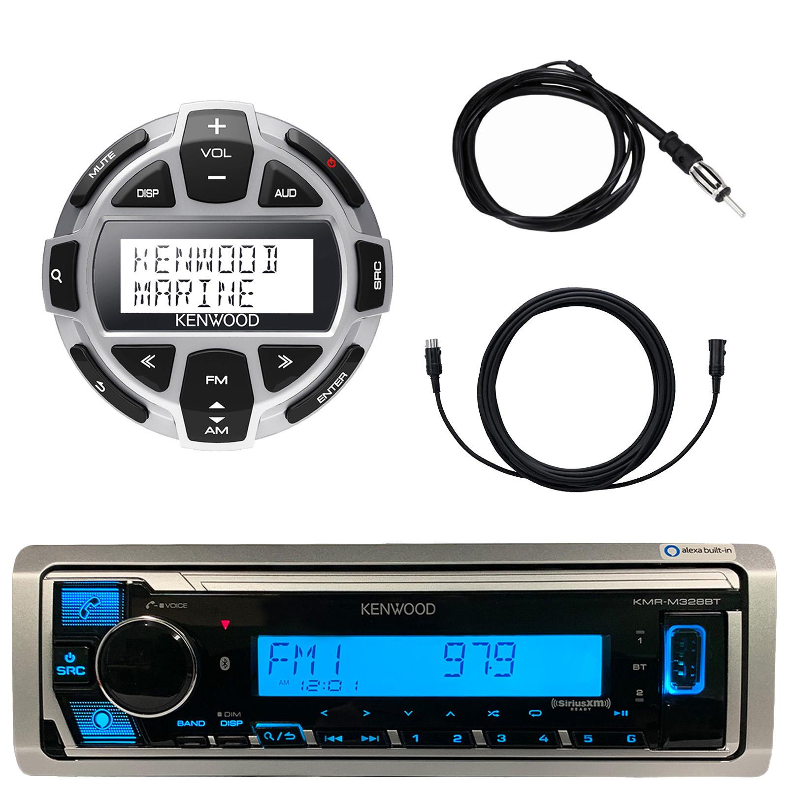 Wired Remote,Radio Cover AM FM Antenna Bluetooth USB Kenwood Marine Radio