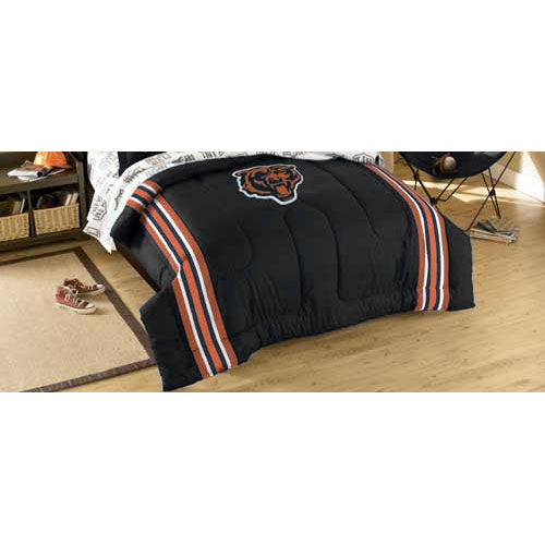 Chicago Bears Football Striped Twin-Full Bed Comforter Set