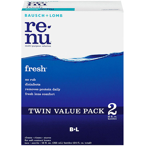 Bausch & Lomb Renu Fresh Multi-Purpose Contact Lens Cleaning Solution, 12oz, 2ct