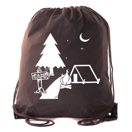 Mato & Hash Camp Drawstring Backpack for All Types of Camps and Birthday