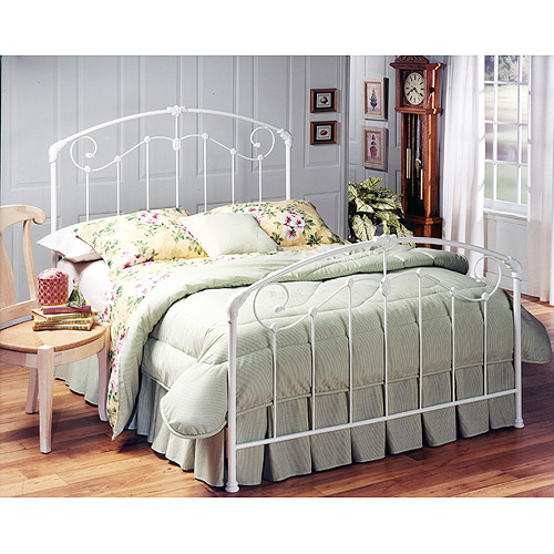 Maddie Full Headboard and Footboard, White -Component