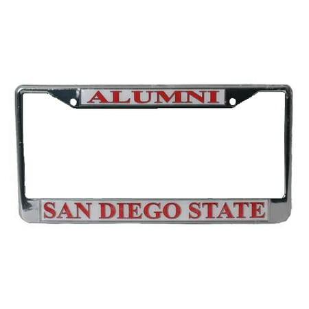 License Plate Insert (San Diego State Aztecs Alumni Metal License Plate Frame W/domed)