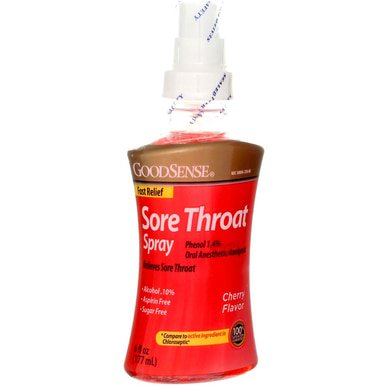 Good Sense Sore Throat Spray- Cherry (12 Units Included)