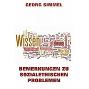 Bemerkung zu sozialethischen Problemen - eBook