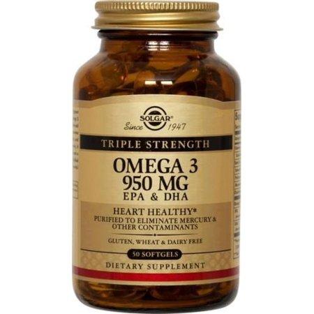 Solgar Omega-3 950mg EPA + DHA, 50ct (Udos Oil Dha 3 6 9 Blend Reviews)