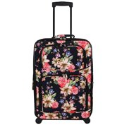 7893cd6a855c World Traveler 2-Piece Carry-On Expandable Spinner Luggage Set - Rose Lily
