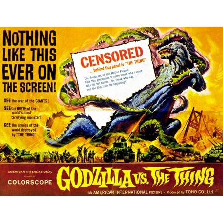 Godzilla vs The Thing POSTER Movie Mini Promo (Godzilla Halloween)