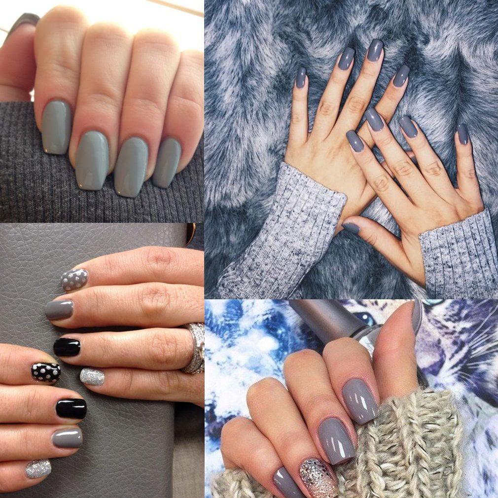 CLAVUZ Gel Nail Polish 12pcs Gray Nail Polish Kit Soak Off UV Gel ...