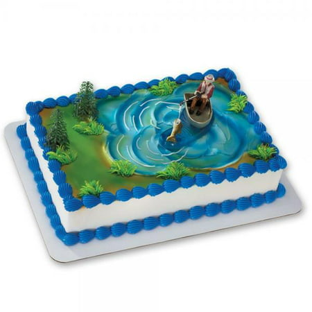 Fish Cake Decorations (Fisherman with Action Fish Deco Cake)