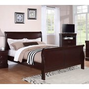 Sleigh Bed in Rich Cherry Finish (Full: 66 in. L x 58 in. W x 48 in. H)