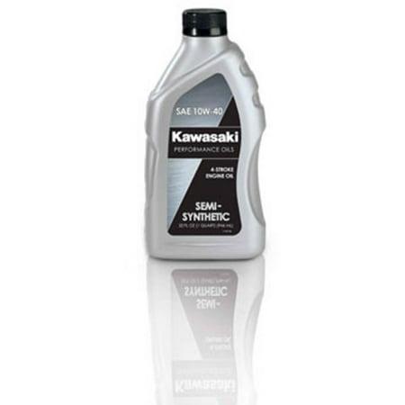 Kawasaki 4-Stroke Semi Synthetic Motorcycle Oil 10W40 1 Quart