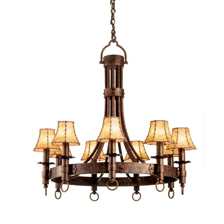 Chandeliers 9 Light With Black Finish Hand Forged Wrought Iron E12 144 inch 360 Watts