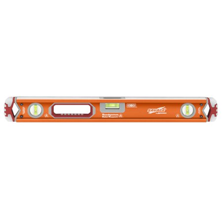 Swanson SAVAGE SVB24M 24-Inch Contractor Series Magnetic Box Beam Level with Gelshock End Caps