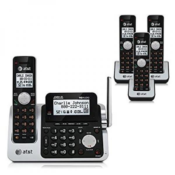 AT&T CL83401   CL83451 4 Handset Cordless Phone w  Extra Large Backlit LCD Display w  Adjustable Tilt by AT&T