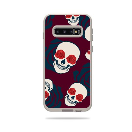 Skin For Lifeproof Fre Case Samsung Galaxy S10 - Skulls N Roses | MightySkins Protective, Durable, and Unique Vinyl Decal wrap cover | Easy To Apply, Remove, and Change Styles