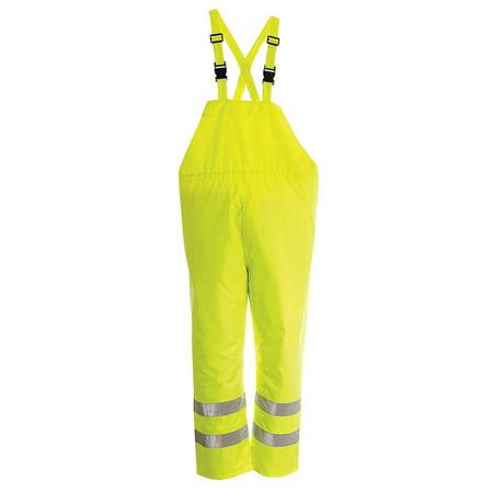 VIKING Hi-Vis Rain Bib Pants, Hi-Vis Green, XL D6323PG-XL