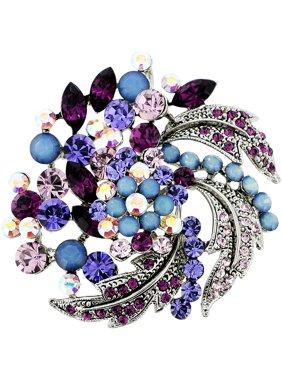 e3f60e2c7ad Product Image Amethyst Purple Flower Wedding Swarovski Crystal Pin Brooch  and Pendant. Fantasyard