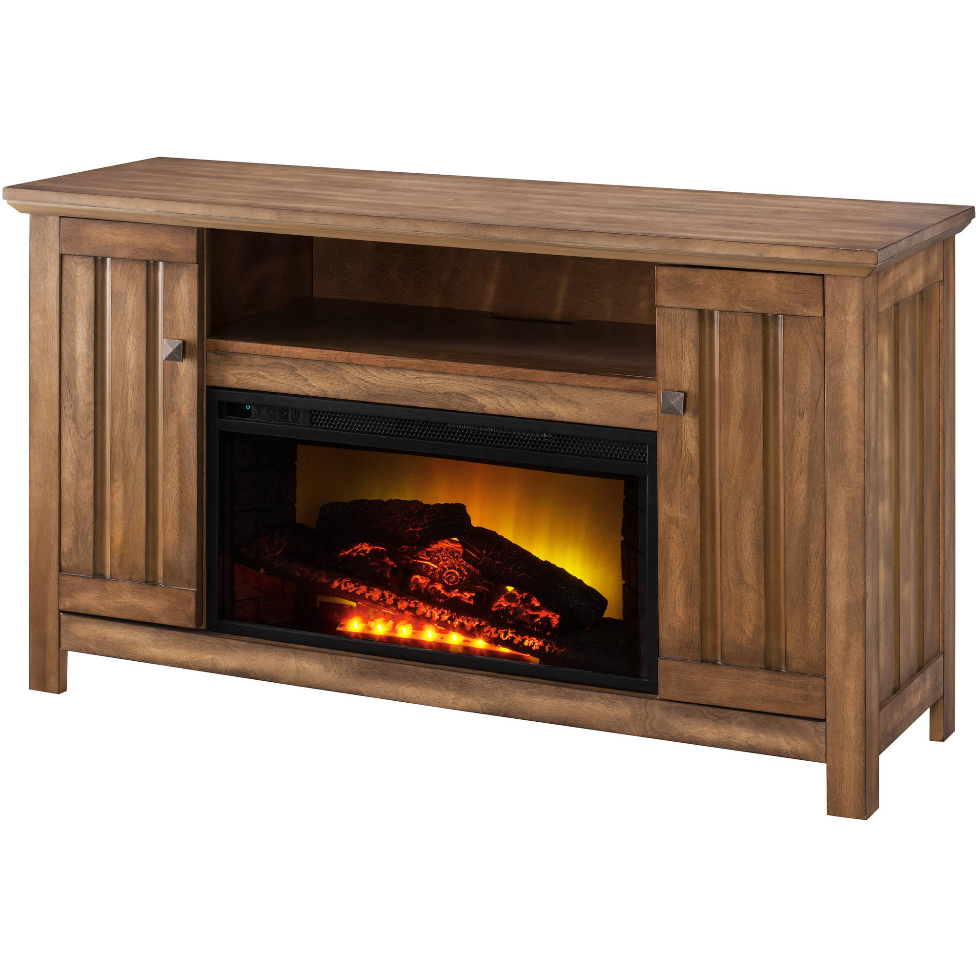 "Prokonian 53"" Driftwood Media Fireplace for TVs up to 51"""