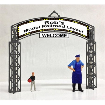 Miller Engineering MIL88-0651 HO & O Scale Universal Entrance Sign Animated & Customizable Neon Style Sign Kit