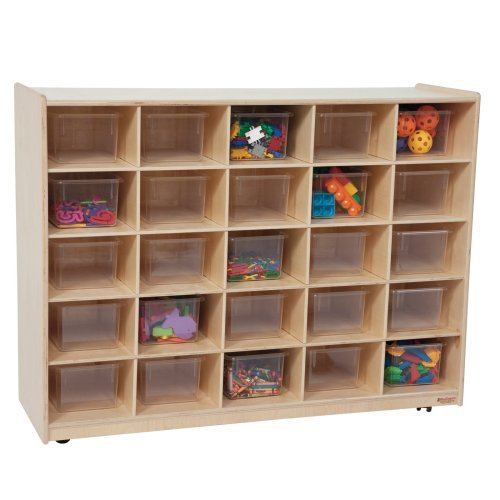 Wood Designs Natural 25 Tray Storage with Trays