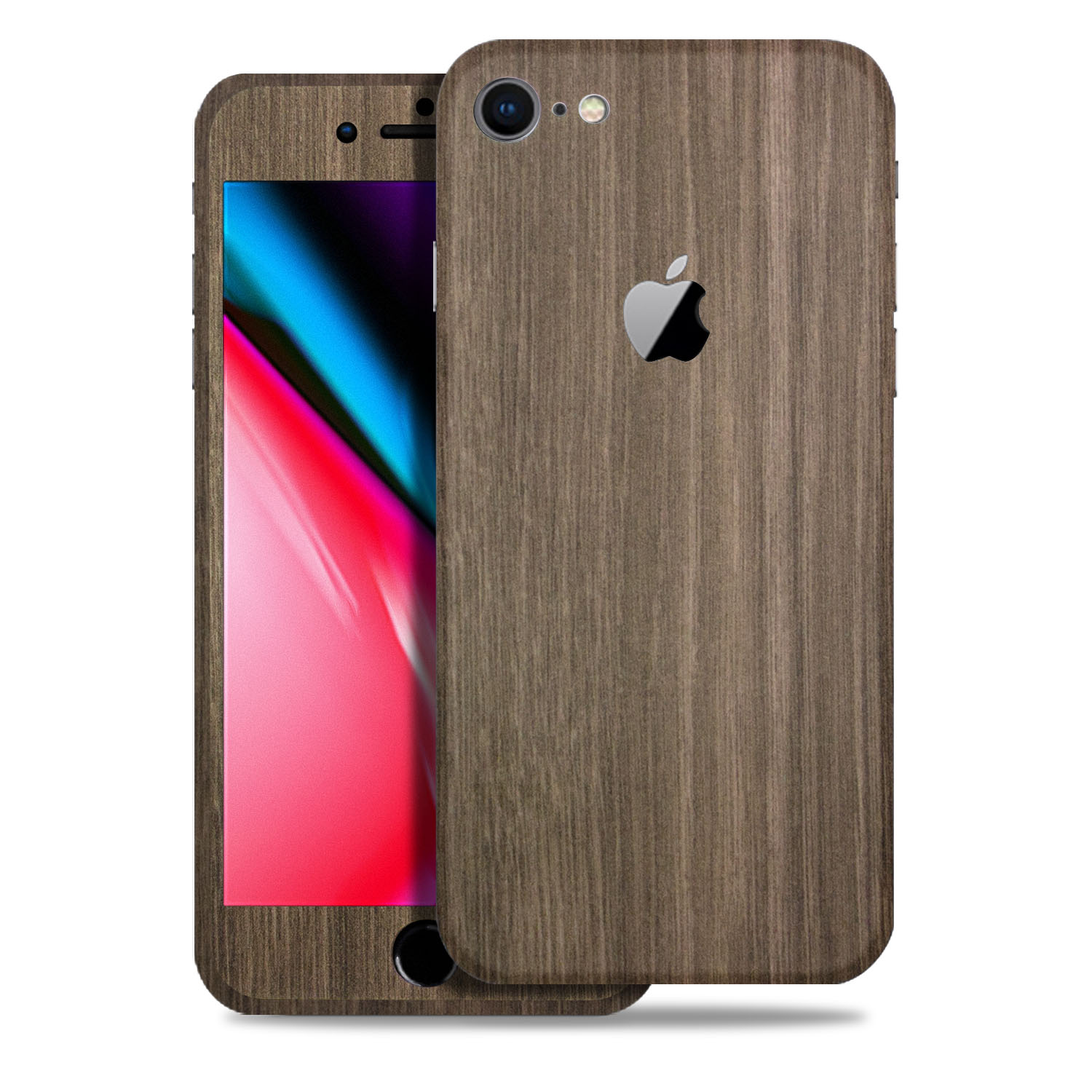 Apple iPhone 8 Aged Wood Texture Protective Vinyl Skin Decal Skins & Wraps (1PK Back / 1PK Front)