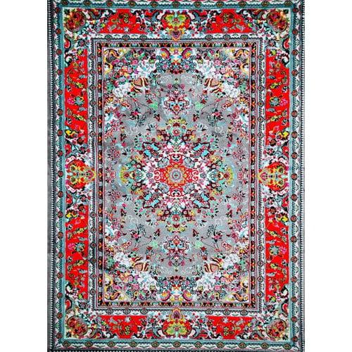Persian Rugs Tobis Gray Red Indoor