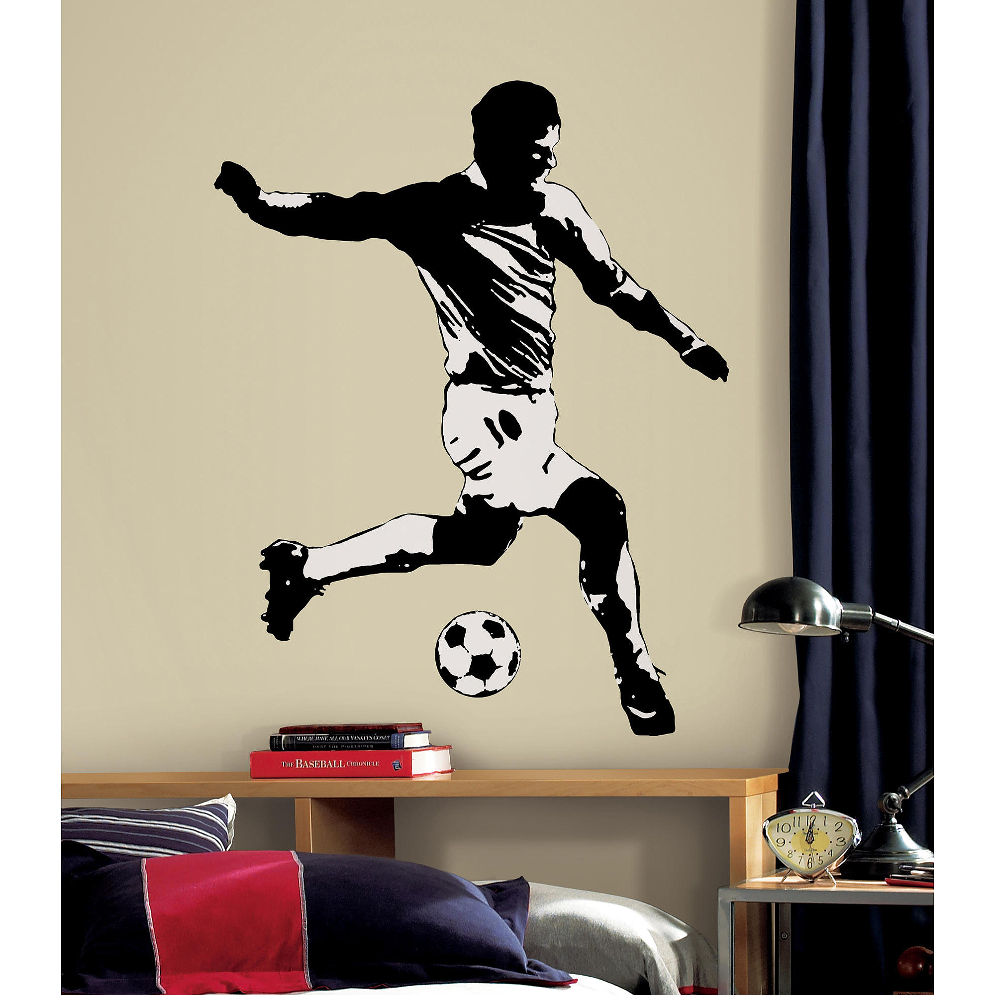 RoomMates Soccer Player Peel and Stick Giant Wall Decals