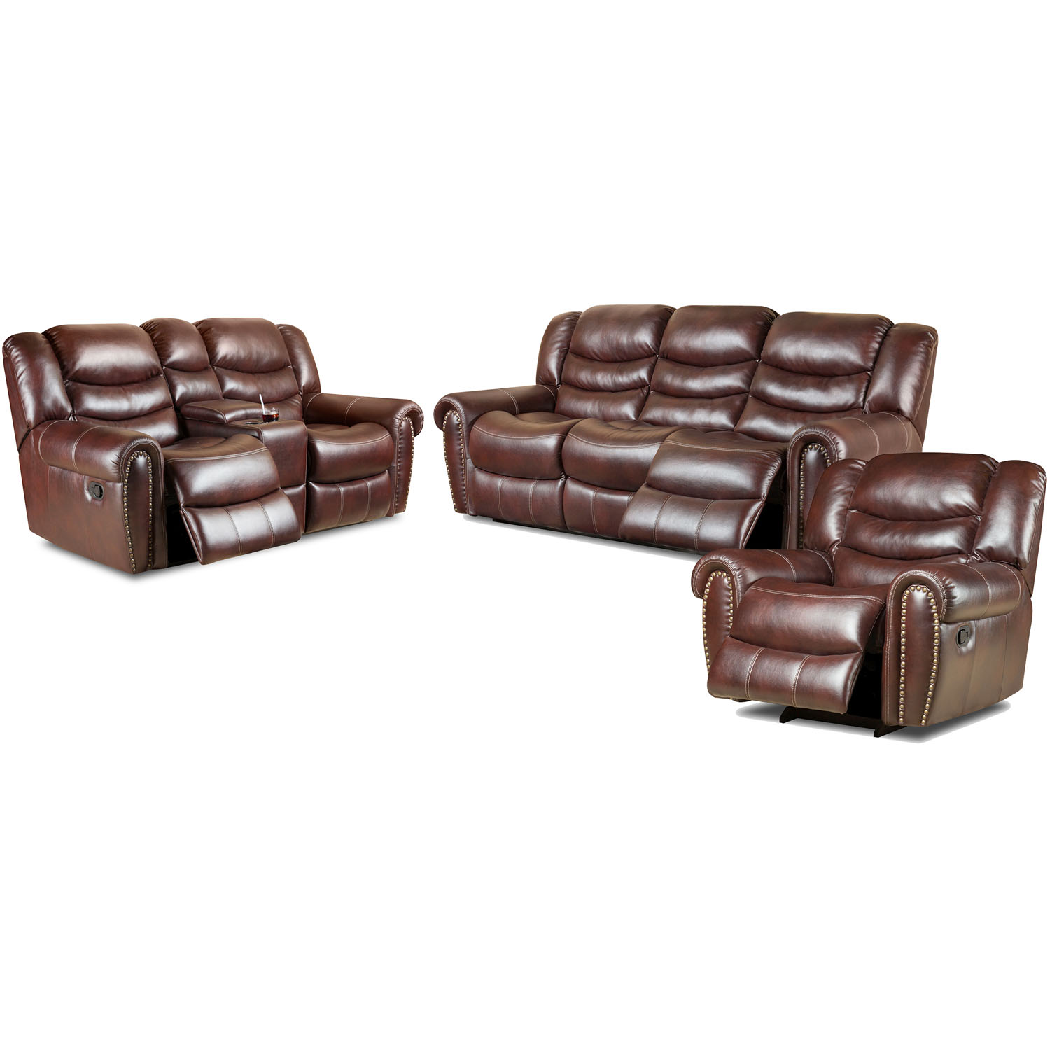 Cambridge Lancaster Three Piece Living Set: Sofa, Loveseat, Recliner