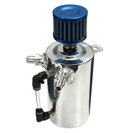 0.5L Oil Catch Tank Can Reservoir Breather Blue Filter Alloy Car Racing Engine - image 10 of 11