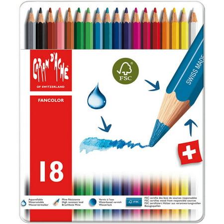 Caran D'Ache Fancolor Water Soluble Pencils, 18pk