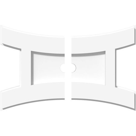 Ekena Millwork CMP14X9HN2-01000 1 in. ID x 3 in. Rectangle Haven Architectural Grade PVC Contemporary Ceiling Medallion - 2 Piece - image 1 of 1