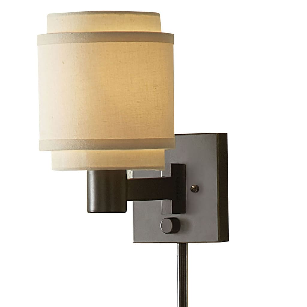 Aztec Lighting Transitional 1-light Oil-rubbed Bronze Steel Swing Arm Pin-up Plug-in Wall Lamp by Overstock
