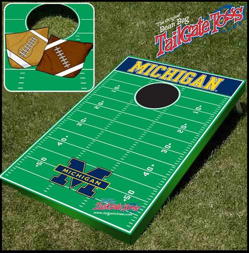 Michigan Tailgate Toss Cornhole Beanbag Game
