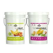 Augason Farms Freeze Dried Fruit/Vegetable Combo Food Storage Pails, 2 count