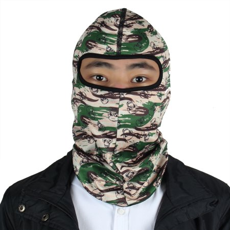 Outdoor Lycra Camouflage Skull Pattern Full Face Mask Balaclava Hood Cap Cover