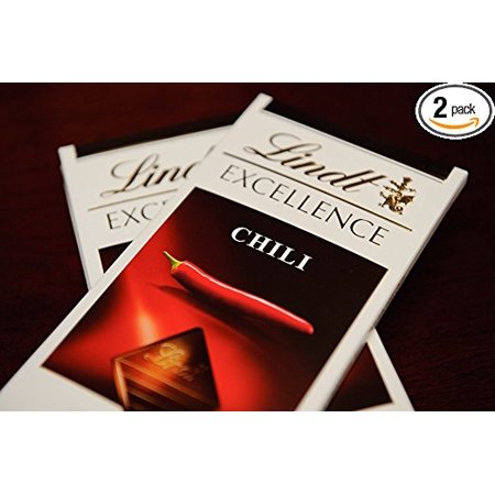 Lindt Excellence Dark Chocolate with Chili Bar, 3.5 Oz, 2 -